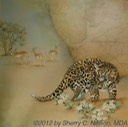 "8.  Leopard Country, Part 1 - 20"" x 20"" - $395.00"