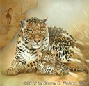 "9.  Leopard Country, Part 2, 20"" x 20"" - $395.00"